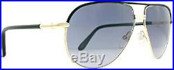 Tom Ford Cole FT0285 TF 285 01B Shiny Black Grey Lens Aviator Men Sunglasses