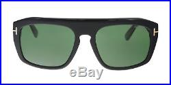 Tom Ford Conrad Sunglasses Shiny Black Green Ft 0470 01n Made In Italy