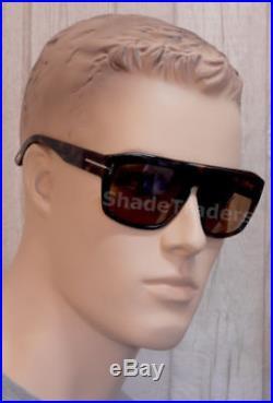 Tom Ford Conrad Sunglasses Shiny Dark Havana Torte Pure Brown Ft 0470 56e