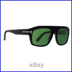 Tom Ford Conrad TF470 01N Black Sunglasses Sonnenbrille Green Lens Size 58