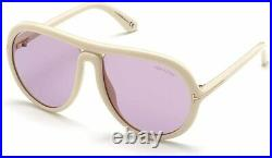 Tom Ford Cybil FT0768 0768 25Y Shiny Ivory Antique Pink Sunglasses Authentic New