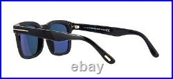 Tom Ford DAX FT 0751 Shiny Black/Blue Polarized (01V) Sunglasses