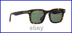 Tom Ford DAX TF 751 52N FT751 Havana Sunglasses Sonnenbrille Green Lens 48mm