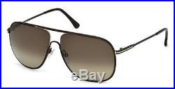Tom Ford DOMINIC TF 451 FT0451 matte dark brown gradient roviex 49K Sunglasses