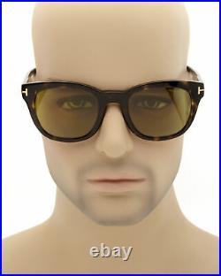 Tom Ford Dark Havana & Green Sunglasses FT0676-5252N