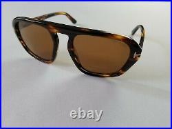 Tom Ford David-02 Tf634-52e Havana Men's Sunglasses Made In Italy