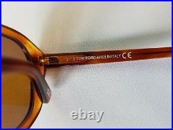 Tom Ford David-02 Tf634-53e Blonde Havana Men's Sunglasses Made In Italy