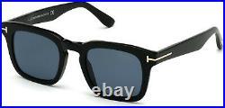Tom Ford Dax FT0751 01V Shiny Black Blue 50 mm Men's Sunglasses