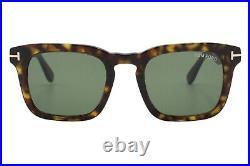 Tom Ford Dax TF 751 52N Brown Tortoise Green Lens Men's Sunglasses 50-22-145