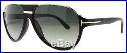 Tom Ford Dimitry TF 334 01P Shiny Black/Gray Gradient Men's Aviator Sunglasses