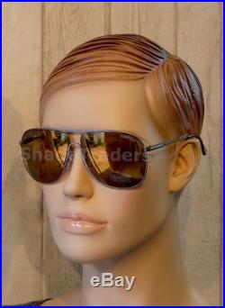 Tom Ford Dominic Aviator Sunglasses Gunmetal Grey Smoke Gold Mirror Ft 0451 09c