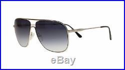 Tom Ford Dominic Men's Sunglasses FT0451 16W Palladium/Blue Gradient Lens 60mm