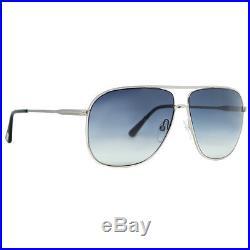 Tom Ford Dominic TF 451 16W Shiny Palladium/Black Men's Aviator Sunglasses