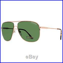 Tom Ford Dominic TF 451 28N Gold Havana/Green Men Aviator Sunglasses