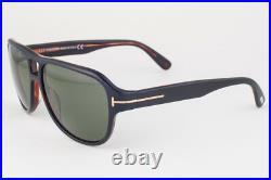 Tom Ford Dylan Shiny Black Havana / Green Sunglasses TF446 05N