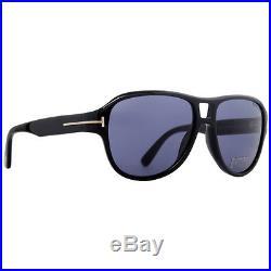 Tom Ford Dylan TF 446 01V Shiny Black Bue Men's Sunglasses