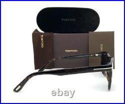 Tom Ford ERIC FT0595 52D Dark Havana / Blue Polarized 55mm Sunglasses TF0595