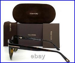 Tom Ford EUGENIO FT0676 52N Dark Havana / Green 52mm Sunglasses TF0676