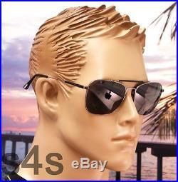 Tom Ford Edward Aviator Sunglasses MATTE GUNMETAL POLARISED SMOKE FT 0377 09D