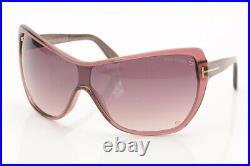Tom Ford Ekaterina 71Z Bordeaux purple gradient shield frame sunglasses NEW $405