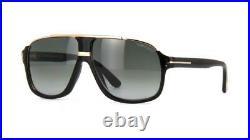 Tom Ford Elliot TF 0335 01P Black & Gold Gradient Sunglasses Sonnenbrille 60mm
