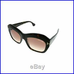 Tom Ford Emmanuelle TF 534 52F Drk Havana Plastic Sunglasses Brown Gradient Lens