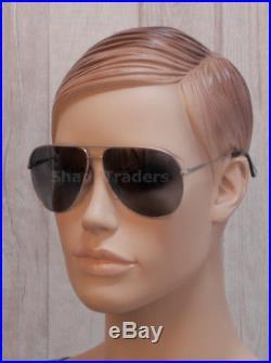 2e2ec4a853 Tom Ford Erin Polarized Aviator Sunglasses Matte Palladium Smoke Grey 0466  17d