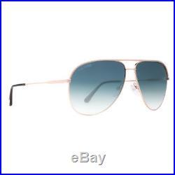 Tom Ford Erin TF466 29P Gold Blue Gradient Aviator Sunglasses