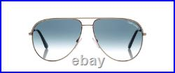 Tom Ford Erin sunglasses FT0466/S 29P 61 Gold Blue Gradient GENUINE Aviator