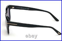 Tom Ford Eugenio FT0676 01E Black Sunglasses Sonnenbrille Brown Lenses Size 52