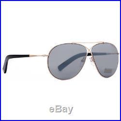 Tom Ford Eva TF 374 28Q Rose Gold Gray Women's Aviator Sunglasses
