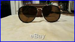 Tom Ford Eyewear Tripp Metal and Acetate Aviator Sunglasses Men Black Amber Lens