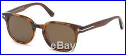Tom Ford FRANK FT 0399 48B Shiny Dark Brown Sunglasses Sonnenbrille 59mm