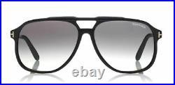 Tom Ford FT 0753 Raoul 01B Shiny Black/Gray Gradient large Sunglasses