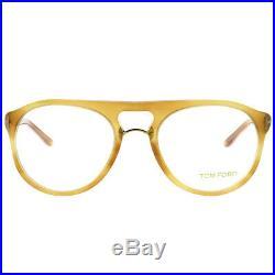 Tom Ford FT 5007 663 Light Havana Plastic Round Eyeglasses 51mm