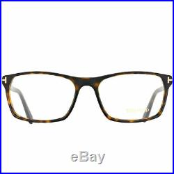 Tom Ford FT 5295 052 Dark Havana Plastic Rectangle Eyeglasses 56mm