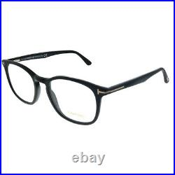 Tom Ford FT 5505 001 Black Plastic Square Eyeglasses 52mm