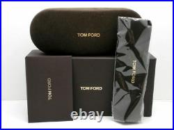 Tom Ford FT Cecillio 0628 001 Shiny Black Blue Block Lens Eyeglasses 54mm New