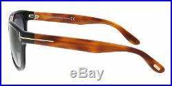 Tom Ford FT0045/S 05B JACK Amber/Black Square Sunglasses