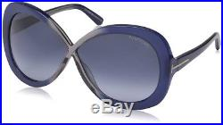 Tom Ford FT0226/S Margot 92W Blue Gradient Authentic TF226 Women Sunglasses