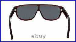 Tom Ford FT0292/S 69A Wagner Burgundy Shield Rectangular Sunglasses