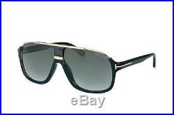 Tom Ford FT0334 01P Dimitry Shiny Black Frame Green Gradient Lens