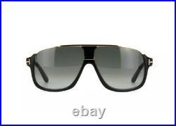Tom Ford FT0335 TF 335 Eliott 01P Shiny Black Gold Grey Gradient Men Sunglasses