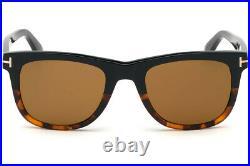 Tom Ford FT0336 05E Black Havana Rectangle Leo Sunglasses