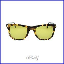 Tom Ford FT0336 55N Leo Sunglasses 52mm Tortoise Brown Yellow TF 336 Bond
