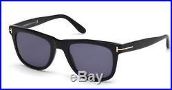 Tom Ford FT0336 Leo shiny blk blue 01V Sunglasses