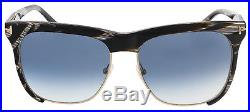 Tom Ford FT0366/S 60B Thea Brown Horn Clubmaster Sunglasses