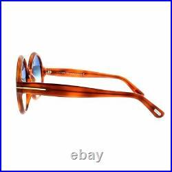 Tom Ford FT0369 56W Full Rim Bright havana Round Women 100% UV Sunglasses