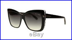 Tom Ford FT0390 01B Shiny Black Butterfly Women's Sunglasses 59mm Authentic