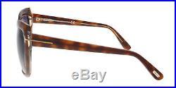 Tom Ford FT0390/S 53F IRINA Medium Havana Oversized Cateye Sunglasses